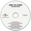 ARMY OF LOVERS.CZ • Promo CD Crucified 2013 plastic sleeve with backing card Švédsko